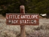 Little Antelope pack station sign